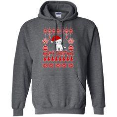 Cat - MEOWY CHRISTMAS - Pullover Hoodie 8 oz