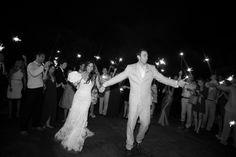 Montecito Country Club Wedding Sparkler send off!