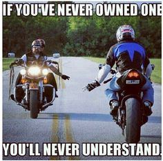 Motorcycle - sportbike - rider - quote - I've never owned one but seeing this in person is too cool :)