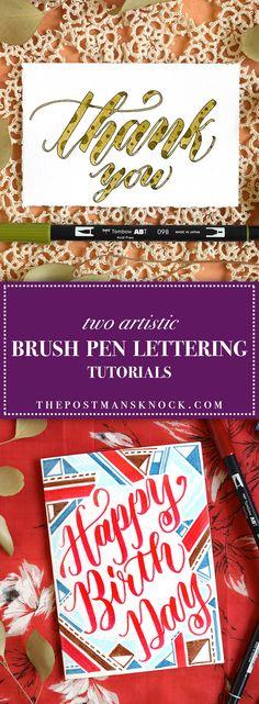 Two Artistic Brush Pen Lettering Tutorials