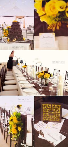 yellow and brown wedding