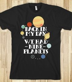 Nine Planets - universal apparel - Skreened T-shirts, Organic Shirts, Hoodies, Kids Tees, Baby One-Pieces and Tote Bags