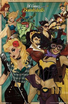 Dc Comics Poster, Arte Dc Comics, Comic Poster, Dc Comics Art, Dc Comics Women, Dc Comics Girls, Hero Poster, Catwoman, Batgirl