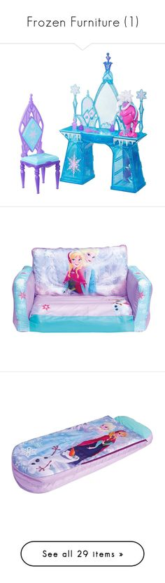 """""""Frozen Furniture (1)"""" by augustalsinaswifeee ❤ liked on Polyvore featuring home, children's room, children's furniture, furniture, sofas, disney, disney furniture, children's decor, ottomans and floral furniture"""