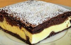 Fantastický tvarohový koláč s kyslou smotanou – hodí sa na oslavu, aj na bežný deň ku kávičke. Je to naozaj veľká pochúťka.  Potrebujeme: Náplň: 300 g mäkkého tvarohu 150 ml kyslej smotany 4 PL práškového cukru 1 vanilkový cukor 5 PL oleja 2 vajcia 25 g vanilkového pudingu (ten nemusíte variť, potrebujete len prášok) Cesto: 3 vajcia 150 g Cookie Recipes, Dessert Recipes, Desserts, Slovak Recipes, Sweets Cake, Healthy Diet Recipes, Sweet And Salty, Mini Cakes, Sweet Recipes