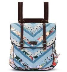 Convertible Backpack - Sky Blue Flower Power