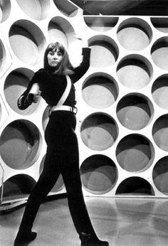 The Daleks Master Plan | Jean Marsh in black cat suit as Sara Kingdom