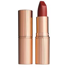 Charlotte Tilbury Matte Revolution Lipstick (€33) ❤ liked on Polyvore featuring beauty products, makeup, lip makeup, lipstick, moisturizing lipstick, lips makeup, matte finish lipstick and matte lipstick