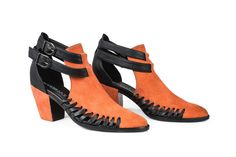 The Bonnie Strap Boot Orange - #ModernVice | Heeled Ankle Boots | Check out more of our Summer Sale Shoes: http://www.modernvice.com/collections/summer-sale