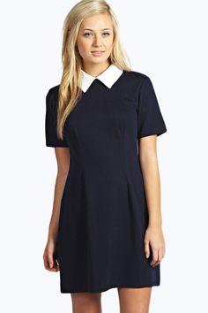 Robin Contrast Collar Dress