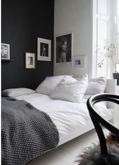 Francey and Belle | Refinished Furniture and Lifestyle Blog Bedroom inspo, grey walls, white walls grey and white bedding