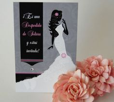 Chic Bridal Shower Invitations with Rhinestone (Spanish theme), Envelopes included, Set of 10 $15.50