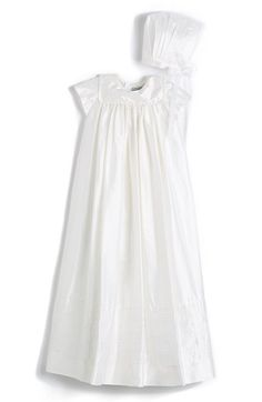 Isabel Garreton 'Traditional' Silk Christening Gown & Bonnet (Baby) available at #Nordstrom