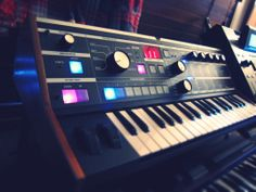 Korg microKORG synthesizer, modified... I wish they all looked like this one