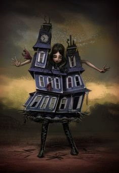 Alice: Madness Returns - Concept Art - Alice in House - Ken Wong