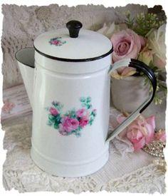 rose enamel coffee pot