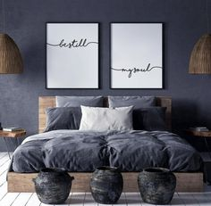 Inhale Exhale Print Wall Art Inhale Exhale Pilates Gifts Set of 2 Prints Relaxation Print Inhale Exhale Signs Yoga Poster Home Decor Bedroom, Modern Bedroom, Interior Design Living Room, Monochrome Bedroom, Art For Bedroom, Industrial Bedroom Decor, Modern Wall, Scandinavian Bedroom Decor, Bedroom Furniture