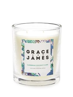 Grace & James Candle from Portmans Candle Jars, Candles, Christmas Gifts For Her, Special Occasion, Lime, Coconut, Tableware, Limes, Dinnerware