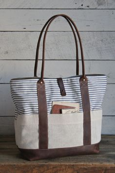 1950's era Striped Carryall