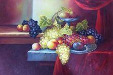 직접 구매 수제 재고 과일 벽 장식 그림 캔버스는 집 그림 유화 추상 과일