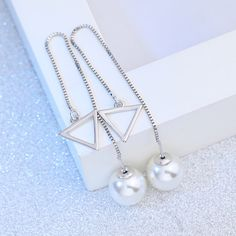 Like and Share if you want this  Long Silver Plated Chain Imitation Pearl Crystal Ball Dangle Earrings For Women     Tag a friend who would love this!     FREE Shipping Worldwide     Buy one here---> http://jewelry-steals.com/products/long-silver-plated-chain-imitation-pearl-crystal-ball-dangle-earrings-for-women/    #gold_earrings