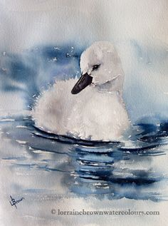 Lorraine Brown Watercolours : Watching for Mum