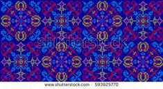Vector seamless pattern in Eastern style. Ethnic Embroidered Handmade Ornament Made from Stitches for Textile Design, Greeting Cards, Background,Invitations,Wrapping, Wallpaper, jacquard, tapestry.