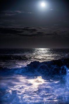 Moon over Marginal Way by Robin Keus