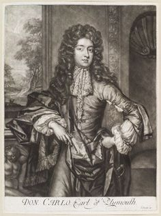 Charles FitzCharles, Earl of Plymouth, son of Charles II and Catherine Pegge. Catherine Pegge and Charles II also had a daughter together called Catherine FitzCharles but she died young or became a nun. Uk History, British History, Charles Ii Of England, Catherine Of Braganza, House Of Stuart, Bonnie Prince Charlie, Alfred The Great, Royal Family Trees, English Monarchs