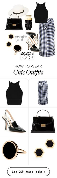 """""""Power Look"""" by celeste-mancuso on Polyvore featuring Maison Michel, TIBI, Christian Dior, Tory Burch, Birks and Ginette NY Corporate Wear, Chic Outfits, Christian Dior, Tory Burch, Polyvore, How To Wear, Clothes, Style, Fashion"""