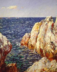 The rocks of Appledore and other Isles of Shoals shoreline provided Childe Hassam much to pursue.