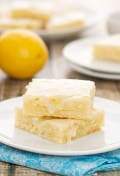 Lemon Brownies (Sweet Pea's Kitchen). The same moist and fudgy texture as brownies. Zingy, tart and perfect for spring!