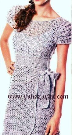 Ажурное платье крючком. Платье красивым узором для женщин | Я Хозяйка