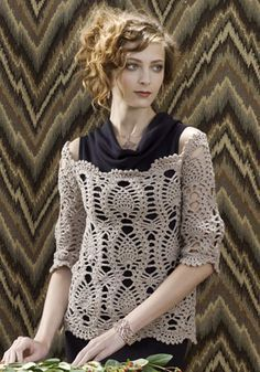 Pretty crochet sweater free pattern!  I've fallen in love with this!!!  it looks hard though!