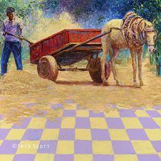 iris scott finger painting | ... -Horse-Cart-Iris-Scott-Finger-Painting-Fine-Art-www-designstack-co