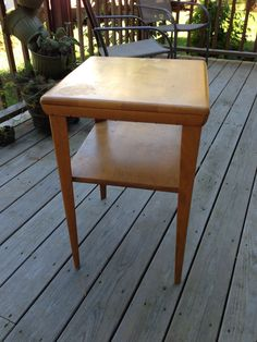 HW end table purchased Fall 2013 for $40.