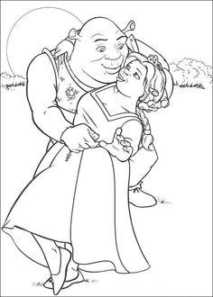 Disegni da colorare Shrek 91