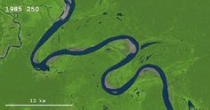 Watch a river change its path over the years