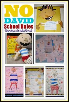 """No David!"" Picture Book for Back-to-School Setting Expectations + Behavior #Kinderchat at RainbowsWithinReach"
