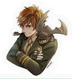 Hiccup and Toothless ^.^ ♡ I give good credit to whoever made this
