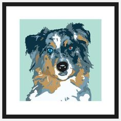 Pop Art Australian Shepherd, $39, now featured on Fab.