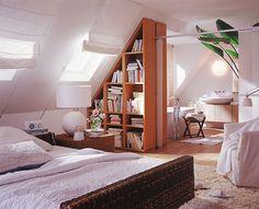 cortina em teto inclinado