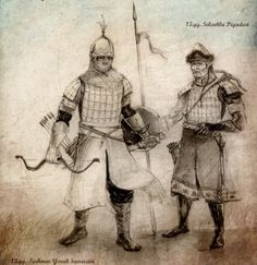 A tribal warrior and a soldier Seljuk Turkmen