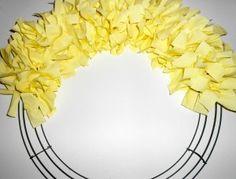 Spring Cloth Wreath {National Craft Month Giveaway} | Bowdabra Blog