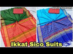 Ikkat Sico Suits || Pochampally Ikkat Silk Dress Materials || Pochampally Ikkat Sico Dresses - YouTube Whatsapp Message, Silk Material, Silk Dress, Pajama Pants, Suits, Youtube, Dresses, Fashion, Silk Gown