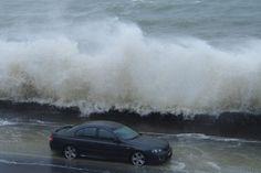 Wild weather on Tamaki Drive, Auckland. Photo / Faye Hayman
