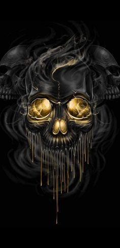 Find the best Skull Black Background on WallpaperTag. We have a massive amount of desktop and mobile backgrounds. Skull Wallpaper, Hd Wallpaper, Desktop Wallpapers, Skull Artwork, Dark Pictures, Pretty Pictures, Dark Gothic, Gothic Art, Black Skulls