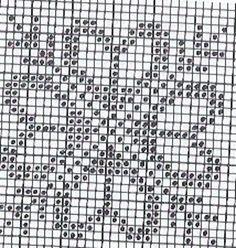 Cross Stitch Borders, Cross Stitch Flowers, Counted Cross Stitch Patterns, Cross Stitch Designs, Filet Crochet Charts, Knitting Charts, Crochet Quilt, Crochet Motif, Chicken Scratch Embroidery
