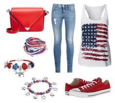 """America Colors"" by maxine128 ❤ liked on Polyvore featuring STELLA McCARTNEY, Converse, Alexander Wang and Bling Jewelry"