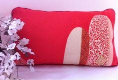 Pink Clouds w Red Dupion Silk
